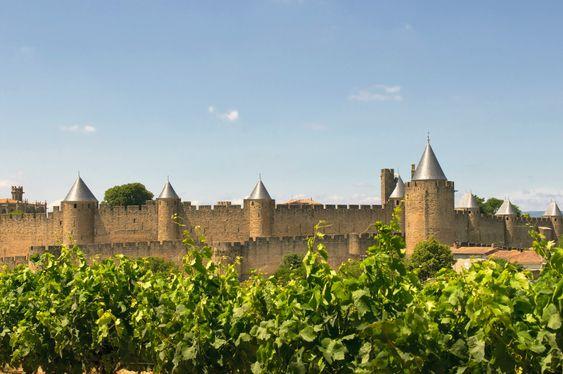 Utsikt mot Cité de Carcassonne.
