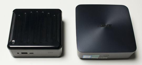 ASRock Beebox-S til venstre, Asus VivoMini til høyre.