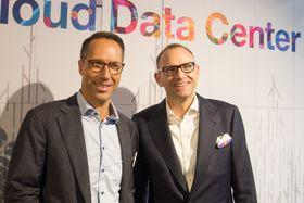 Jens Hassel, sjef for IBMs skytjenester i Norden (til venstre), og Sebastian Krause, leder for IBM Cloud i Europa.