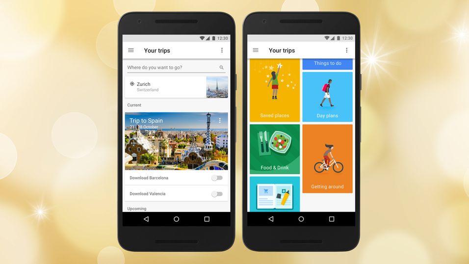 Googles nye reiseapp Trips.
