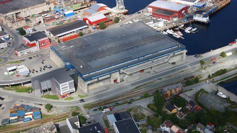 Ateas datasenter «Dora», som ligger i en toppsikret ubåthangar utenfor Trondheim. Foto: Atea.