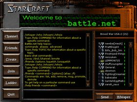 Slik så Battle.net ut i StarCraft.