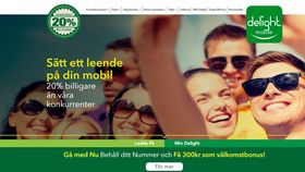 Skjermdump Delight Mobile Sverige.