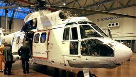 Selv om det er eldre teknologi som midlertidig stepper inn som hovedressurs i oljebransjens beredskap, skal det nevnes at de fleste av 330-skvadronens Sea King-helikoptre er ti år eldre enn denne Super Pumaen.