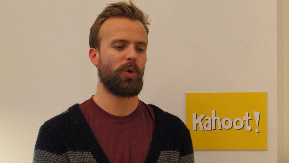 Får Microsoft på eiersiden: Gründer og adm.dir Johan Brand i Kahoot. Arkivfoto.