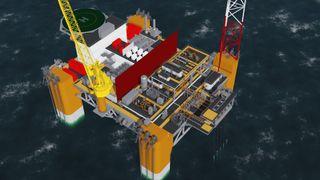 Oljeplattformer har gjerne over 100 personer ombord. Denne trenger kun 20