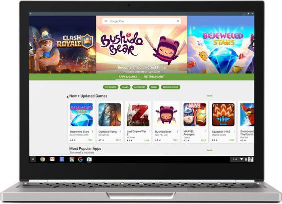 Omtrent slik ser Google Play ut i Chrome OS.