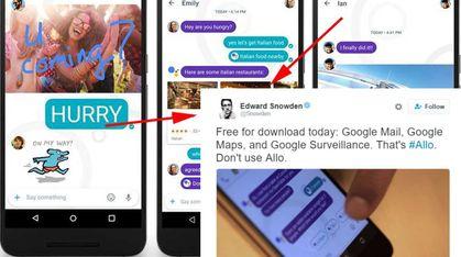 Snowden: Ikke bruk Google Allo