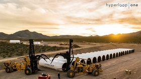 Bygger testbane: Hyperloop One bygger en testbane nord for Las Vegas.