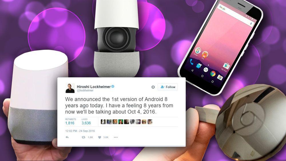 Android-sjef Hiroshi Lockheimer hos Google tror selskapets 4. oktober-lansering vil gå ned i historiebøkene som like viktig som den første lanseringen av Android.