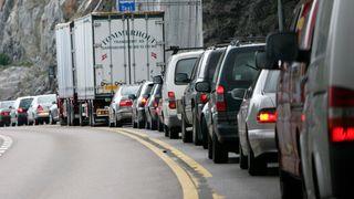 Slik vil de lage strøm av tett trafikk