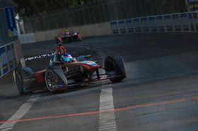 Venturis Formel E-bil under løpet i Berlin i mars i år.