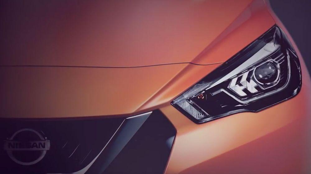 Nissans neste elbil blir trolig en småbil eller en crossover. Bildet viser neste generasjon Nissan Micra, som skal vises frem i Paris.