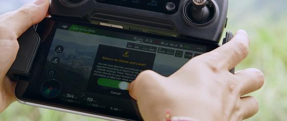 Som før kan appen brukes til å kontrollere dronen.