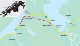 Snarvei: E6 er hovedveiforbindelsen gjennom Troms fylke i nord-sør retning, og Reisafjellet (Sørkjosfjellet) er eneste innenlands veiforbindelse mellom de nordligste kommunene i Troms fylke og Finnmark.