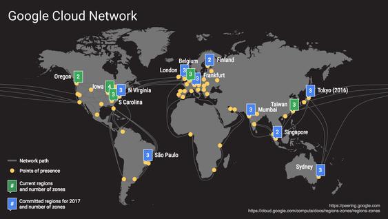 Inkludert den kommende nettskyregionen i Tokyo, har Google nå offentliggjort planer om ni nye regioner det kommende året.