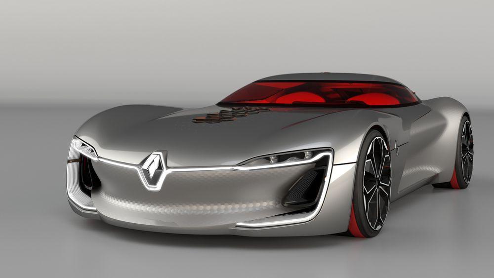 Renault-designerne har fått frihet til å lage denne futuristiske elbilen, Renualt Trezor, som ble vist i Paris.