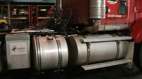 Systemet installeres i dag på lastebiler i Canada.