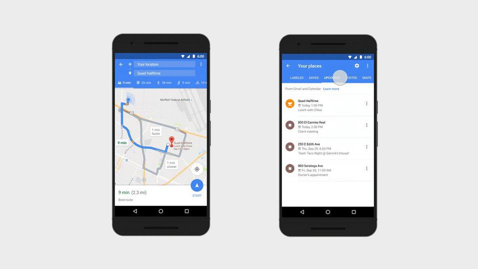 Google Maps kan nå vise deg avtalene fra kalenderen din.