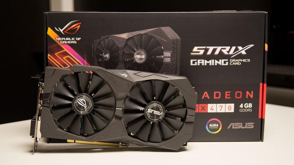 Asus Radeon RX 470 Strix OC er et av de første budsjettkortene fra AMDs Polaris-generasjon.