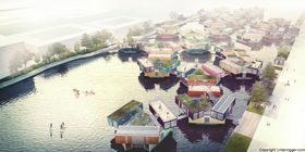 Målet til selskapet er å lage egne små landsbyer av studentboligene ute i vannet.