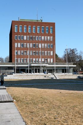 RÅDHUSET I SKI: Slik er Ski rådhus i dag.