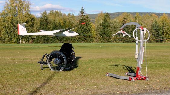 IDRETT FOR ALLE: Drammen Flyklubb har det siste året investert 4,8 millioner kroner i et nytt universelt utformet klubbhus og et spesialtilpasset seilfly.