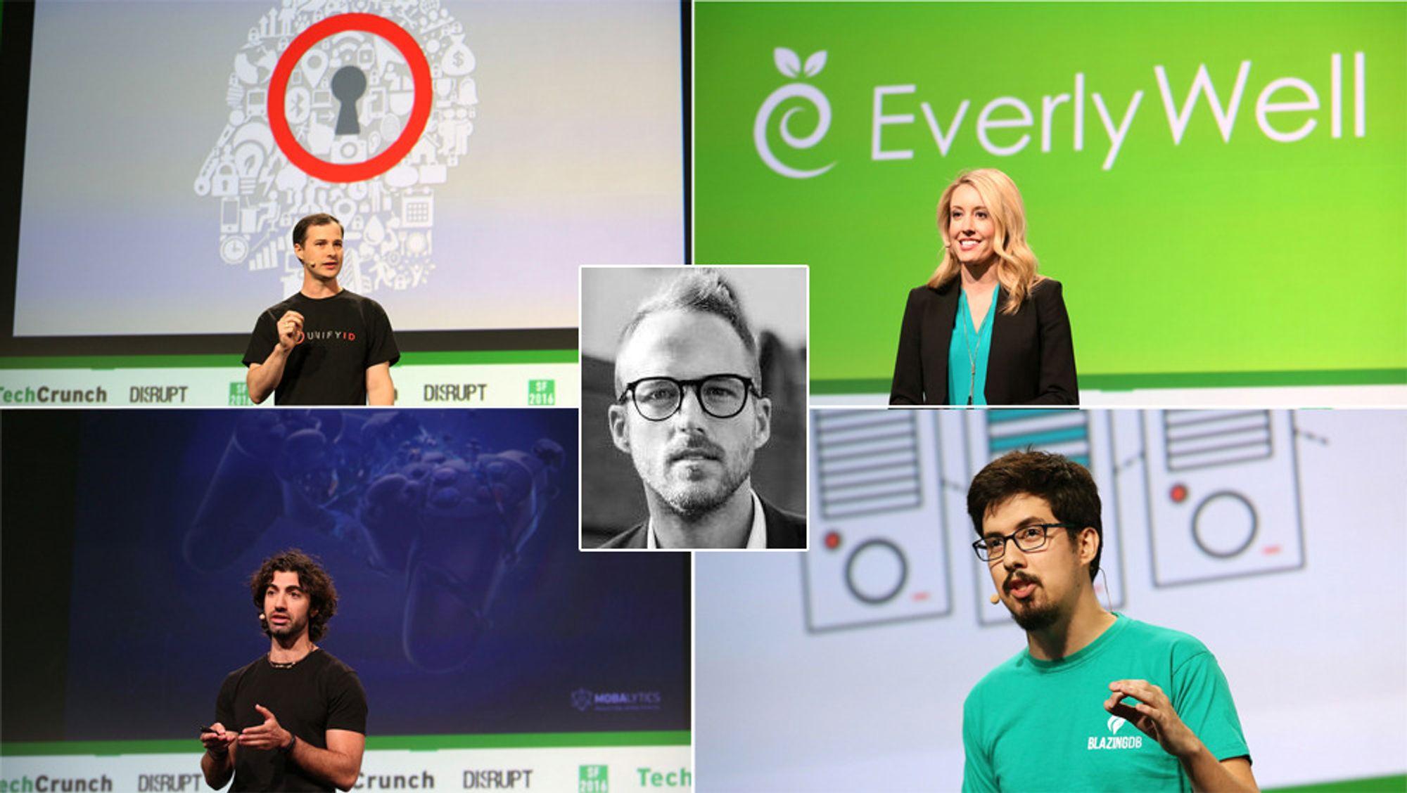 Fire oppstartselskaper deltok nylig i magasinet Tech Crunch sin konkurranse. Bidragsyter Christoffer Hovde mener etablerte selskaper har mye å lære av slike selskaper.