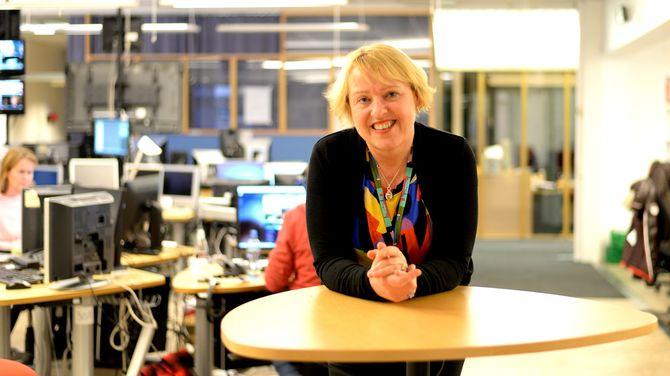 GRETHE GYNNILD-JOHNSEN, distriktsdirektør i NRK - skal på redaktørjakt igjen. (Arkivfoto: Gard L. Michalsen)