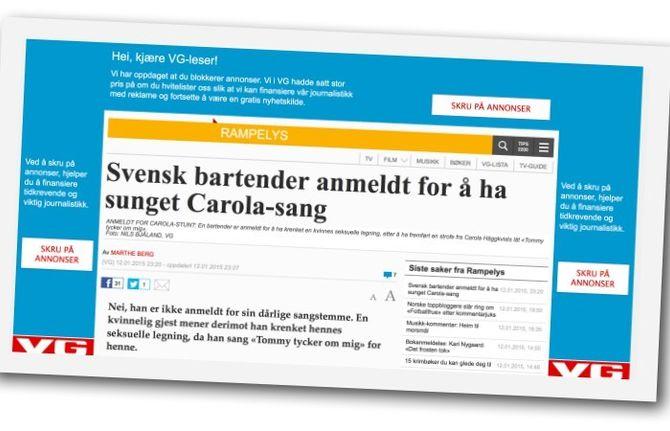VIKTIG JOURNALISTIKK: Leserne oppfordres til å slå av annonseblokkeringen, for å bidra til å finansiere seriøs journalistikk.