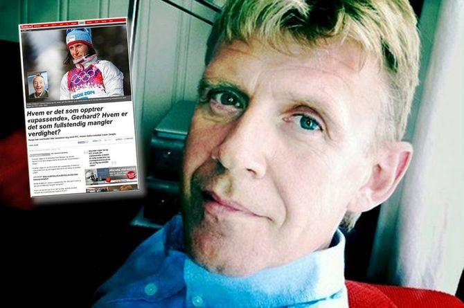 TÅKELUR: Lasse Jangås, samfunnsredaktør i Nordlys. Flere hundre tusen leste hans angrep på IOC. (Foto: Nordlys)