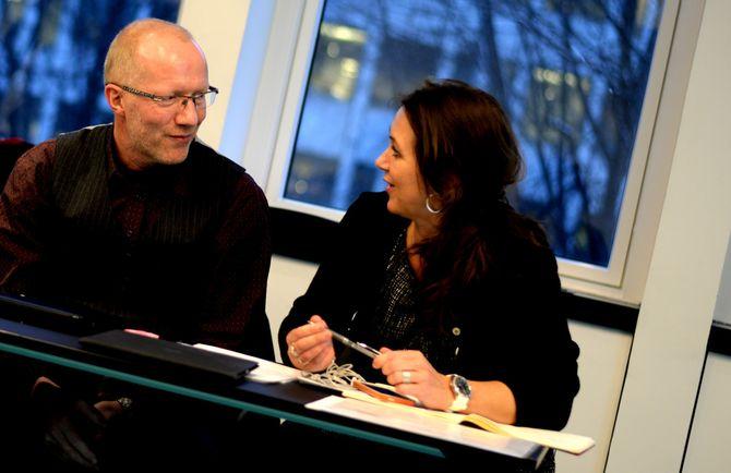REDAKTØRGENERALER: Generalsekretær Arne Jensen og assisterende generalsekretær Reidun Kjelling Nybø i Norsk Redaktørforening.