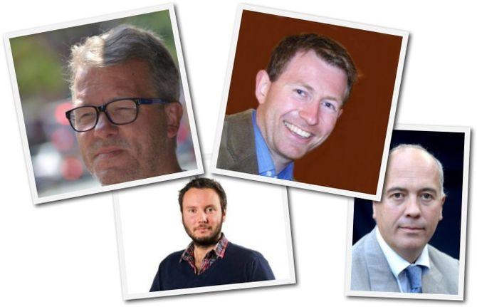FÅR PENGER: Pål Hansen, Jonas Mjaaland, Anders Nyland og Sigmund Kydland er blant dem som får penger. (Foto: pressefoto/profilbilder)
