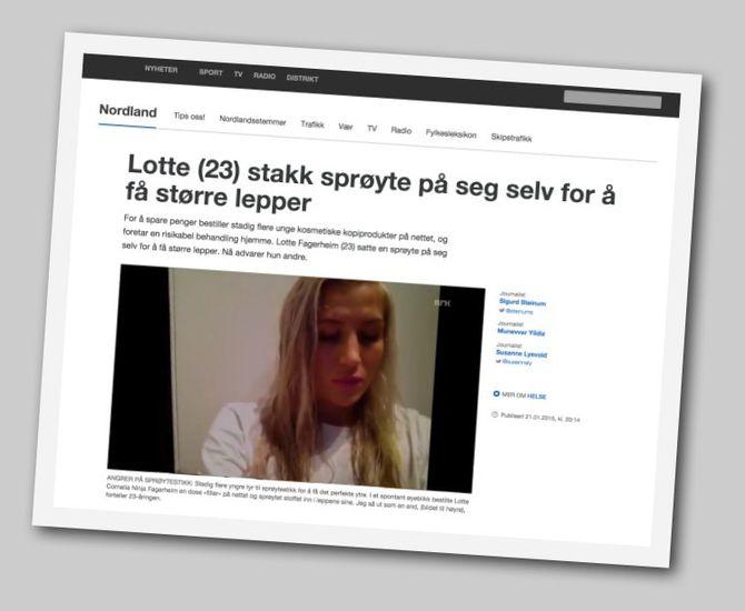 NRK Nordlands omtale av bloggeren «N1nja».