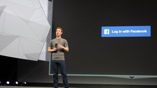 Facebook-sjef Mark Zucker­berg under sel­ska­pets kon­fe­ranse F8 i april 2014.