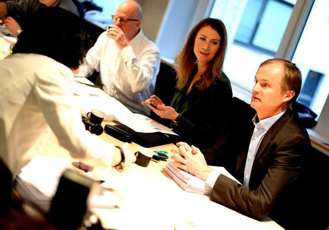 DEBATT: Investoren deltok i debatten rundt flere saker.