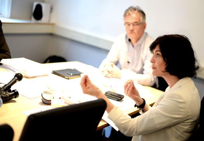 PFU: Her ved leder og VG-journalist Alf Bjarne Johnsen, og generalsekretær Kjersti Løken Stavrum i Norsk Presseforbund. (Arkivfoto)