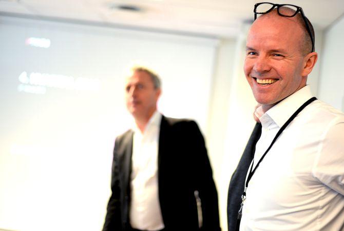 SMILER, MEN SLUTTER: Finansdirektør Glenn Veiby i Amedia har sagt opp sin stilling.