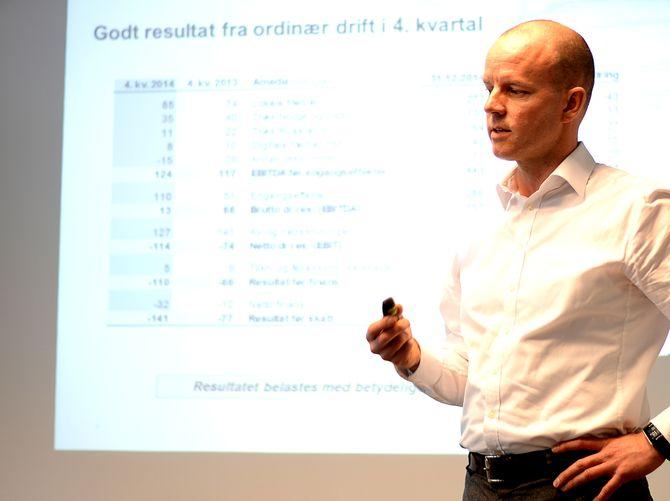 GOD DRIFT, DÅRLIG BUNNLINJE: Konserndirektør finans/CFO Glenn Veiby om Amedias 2014-tall.