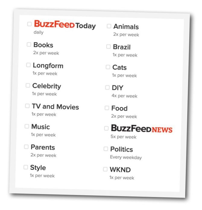 buzzfeed nyhetsbrevene