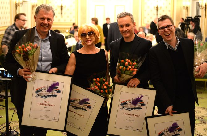 REDAKTØRPRISER: Gunnar Stavrum, Astrid Gunnestad, Svein Erik Hole og Eirik Hoff Lysholm.
