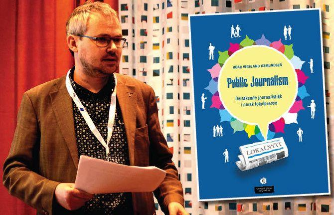 ROAR OSMUNDSEN og hans bok om public journalism. (Arkivfoto)