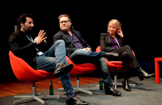Kadafi Zaman, Eirik Mosveen og Marie Simonsen mimret om fortida.