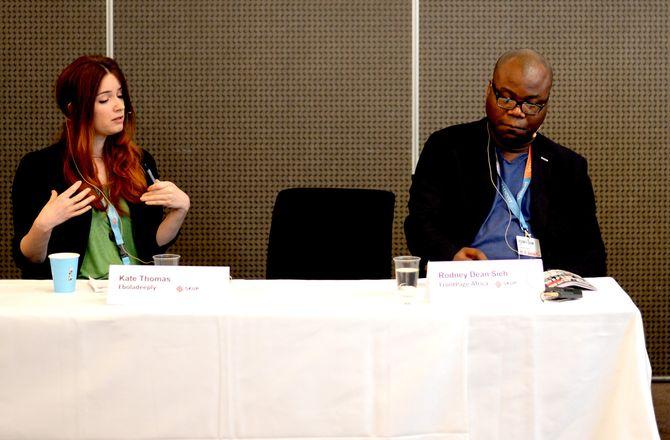 Kate Thomas, Eboladeeply, og Rodney Dean Sieh.
