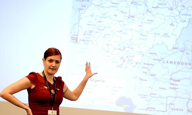 MAREN SÆBØ, frilansjournalist og redaktør for Bundu.no. Her fra SKUP-konferansen våren 2015.