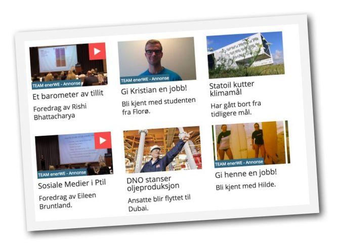 REDAKSJONELT OG REKLAME: Nettavisa byr på både redaksjonelt innhold og betalt innholdsmarkedsføring.