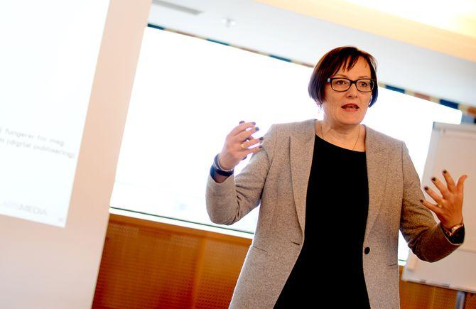 TOVE NEDREBERG, administrerende direktør i Adresseavisen AS. Her fra LLAs landsmøte i Trondheim våren 2015.