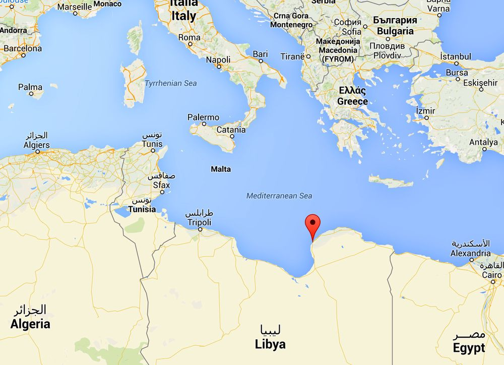 To journalister til drept i Libya.  (Google Maps)