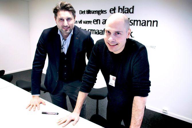 Nordlys-direktør Ronni Møller Pettersen (t.v.) sa opp sin stilling for noen måneder siden. Nå gir også sjefredaktør Anders Opdahl seg.(Foto: Nordlys/Stian Staur)