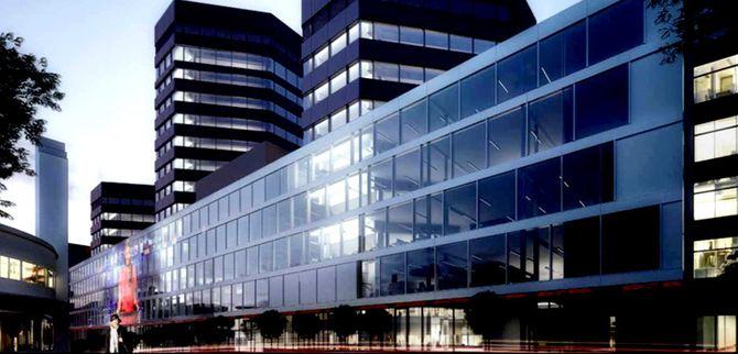 HER KOMMER MEDIA CITY BERGEN - foreløpig illustrasjon fra Entra/MAD arkitekter.
